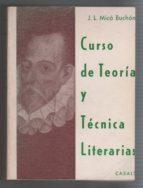 Curso De Teoría Y Técnica Literarias